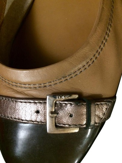 Preload https://item5.tradesy.com/images/tod-s-brown-packable-cap-toe-leather-ballet-41-incl-bags-flats-size-us-10-20618124-0-3.jpg?width=440&height=440