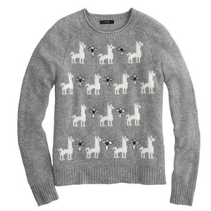 J.Crew Llama Embellished Cute Cozy Sweater