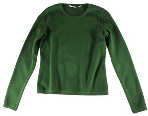 Oscar de la Renta Green Knit Lk Top Emerald