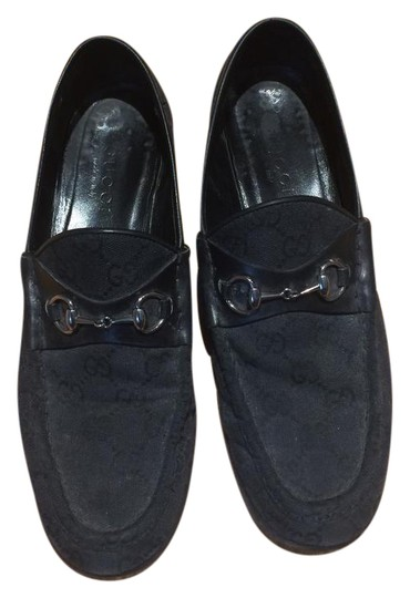 Preload https://item2.tradesy.com/images/gucci-black-women-s-monogram-loafers-with-dust-bags-flats-size-us-95-20618231-0-1.jpg?width=440&height=440