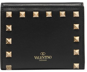 Saint Laurent New Valentino Rockstud French Leather Wallet