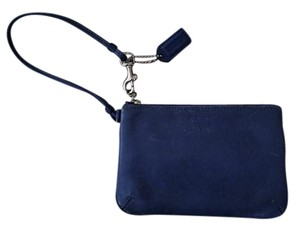 Coach Leather Wristlet in french blue