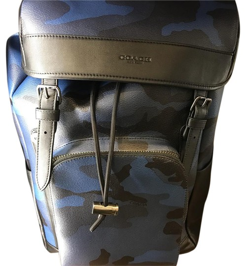 2f8832a971311a Coach Men's Henry Blue and Black Camo Leather Backpack - Tradesy
