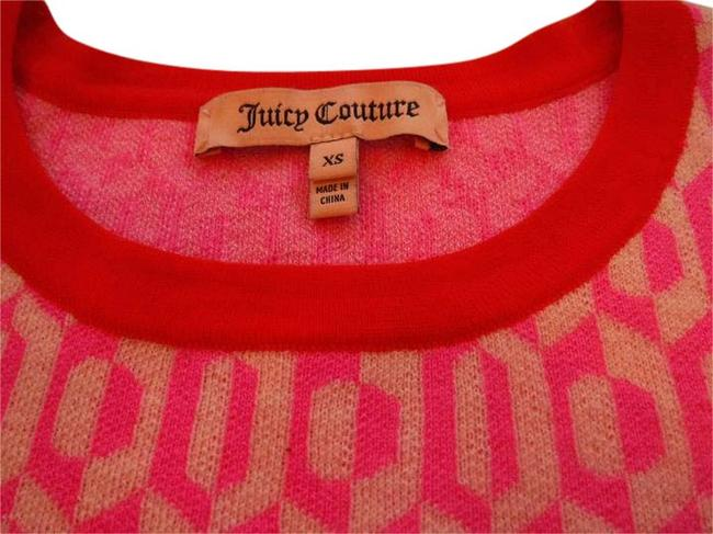 Preload https://item4.tradesy.com/images/juicy-couture-pink-and-red-patterned-sweaterpullover-size-0-xs-20618273-0-1.jpg?width=400&height=650