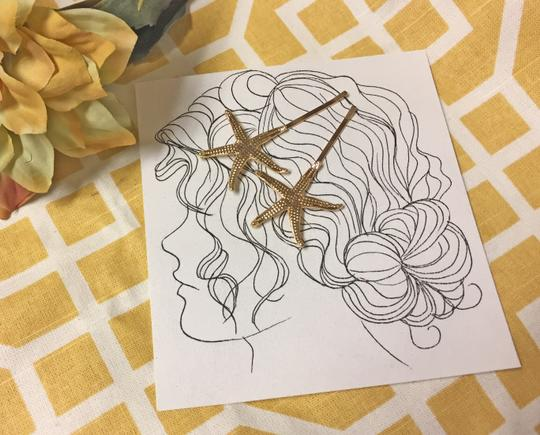 Other Gold Starfish Hair Pins