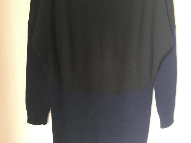 Stella McCartney short dress Navy and Black Fleece Wool Sweater Color-blocking Warm Loose-tight Fit on Tradesy