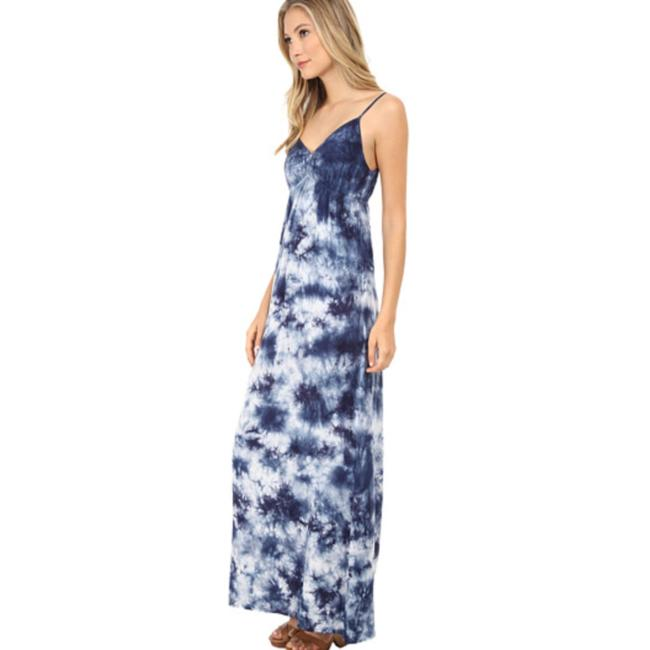 navy / white tie-dye Maxi Dress by C&C California Splendid James