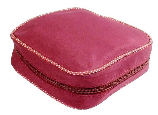 Preload https://item1.tradesy.com/images/pink-zippered-jewelry-caddy-maroon-with-dots-nylon-microfiber-shell-wallet-20618525-0-0.jpg?width=440&height=440