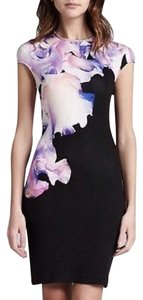 Alexander McQueen Floral Iris Orchard Bodycon Mcq Dress