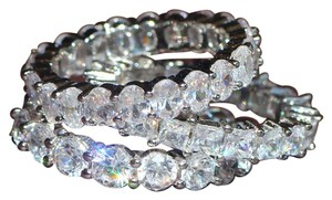 Other New 3pc Eternity Band Set White Gold Filled