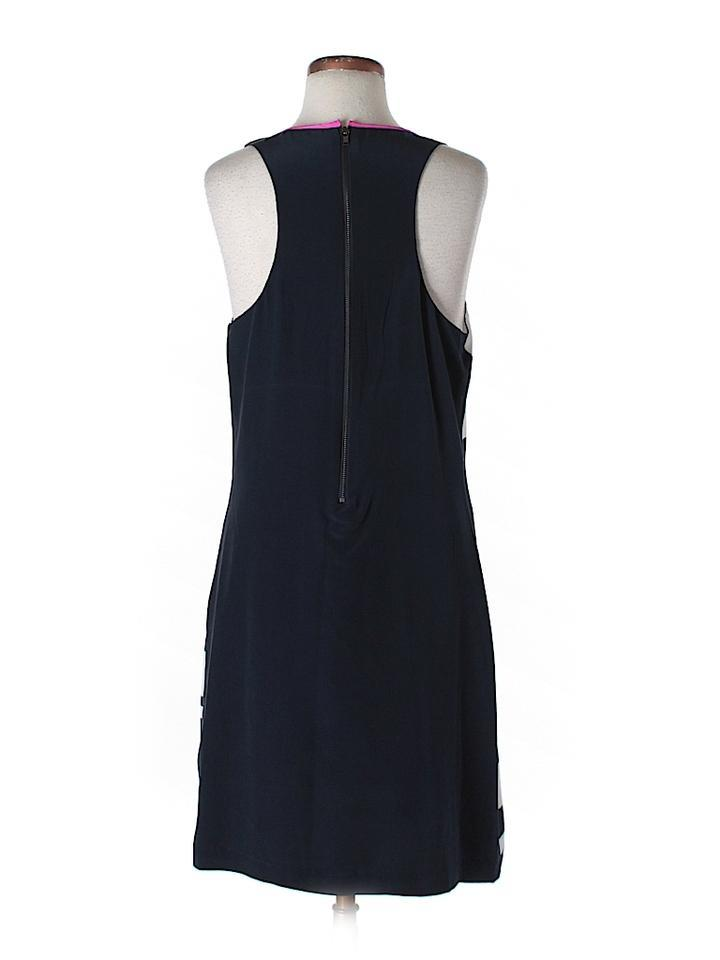 the letter silk striped racer back short casual dress size 12 l tradesy. Black Bedroom Furniture Sets. Home Design Ideas