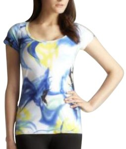 Andrea Jovine T Shirt white blue yellow