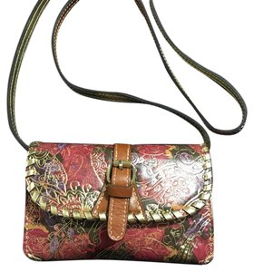 Patricia Nash-Metallic Paisley Nash Crossbody Leather Satchel in Metallic Paisley