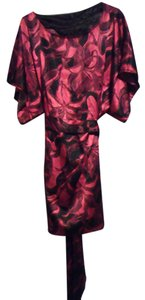 BCBGMAXAZRIA short dress Black and Red Floral Womens on Tradesy