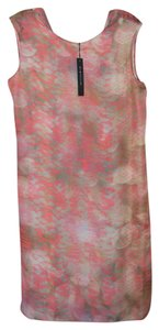 Elie Tahari Shift Color Pink Snake Print Dress