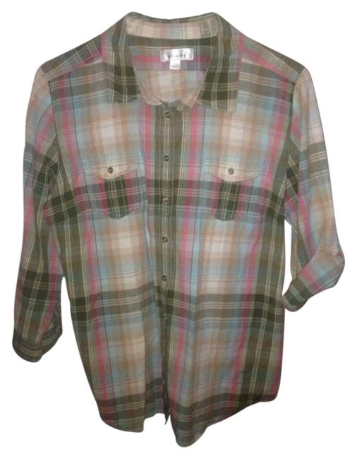 Preload https://item2.tradesy.com/images/dress-barn-plaid-pink-green-button-down-top-size-16-xl-plus-0x-206191-0-0.jpg?width=400&height=650