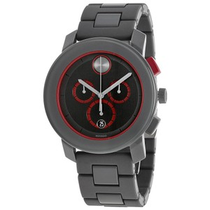 Movado Movado Bold 3600272 Grey Red Chronograph Mens Watch