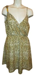 Kardashian Kollection short dress brown, tan & white leopard print on Tradesy