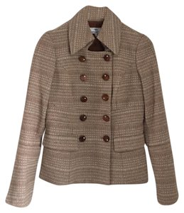 Andrea Becker Sophisticated Andrea Becker Tan and Cream Blazer