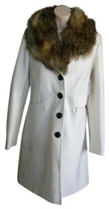 Victoria's Secret Faux Fur Trench Winter Wool Blend Trench Coat