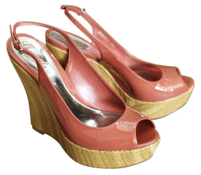 Item - Coral Patent Leather Wedges 39.5/9.5 258355 6411 Platforms Size EU 39.5 (Approx. US 9.5) Regular (M, B)