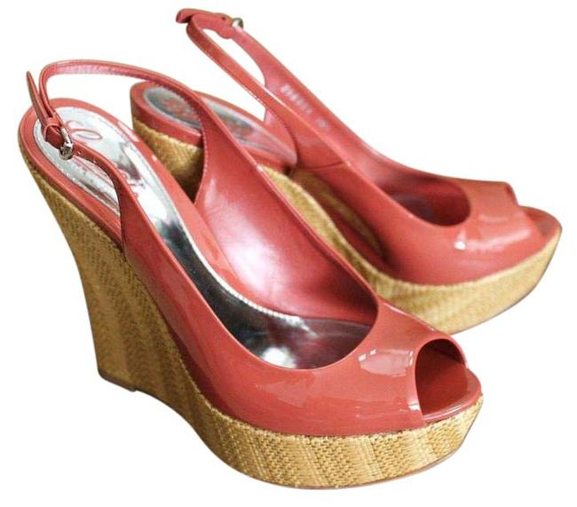 Item - Coral Patent Leather Wedges 40/10 258355 6411 Platforms Size EU 40 (Approx. US 10) Regular (M, B)