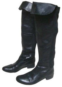 Charles David Charles Over The Knee Tall Leather Riding Black Boots