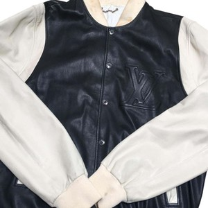 Louis Vuitton black and cream Leather Jacket