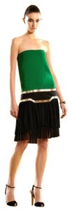 Gucci short dress Green/Black Runway Silk Strapless Multi on Tradesy
