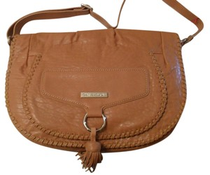 Charles Jourdan Calista Leather Messenger Tan Messenger Bag