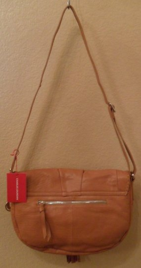 Charles Jourdan Calista Leather Tan Messenger Bag