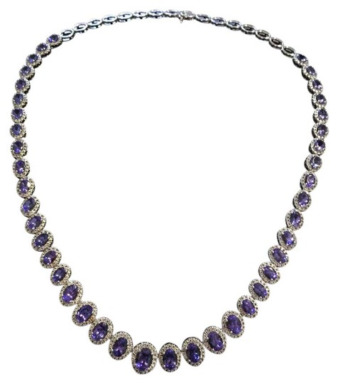 Preload https://item3.tradesy.com/images/tanzanite-cocktail-necklace-20619422-0-1.jpg?width=440&height=440