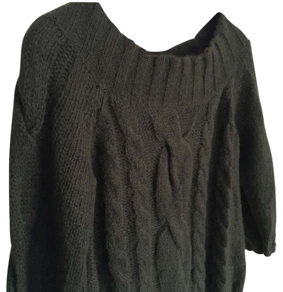 Anne Klein Deep Green Cable Knit Sweaterpullover Size 8 M Tradesy