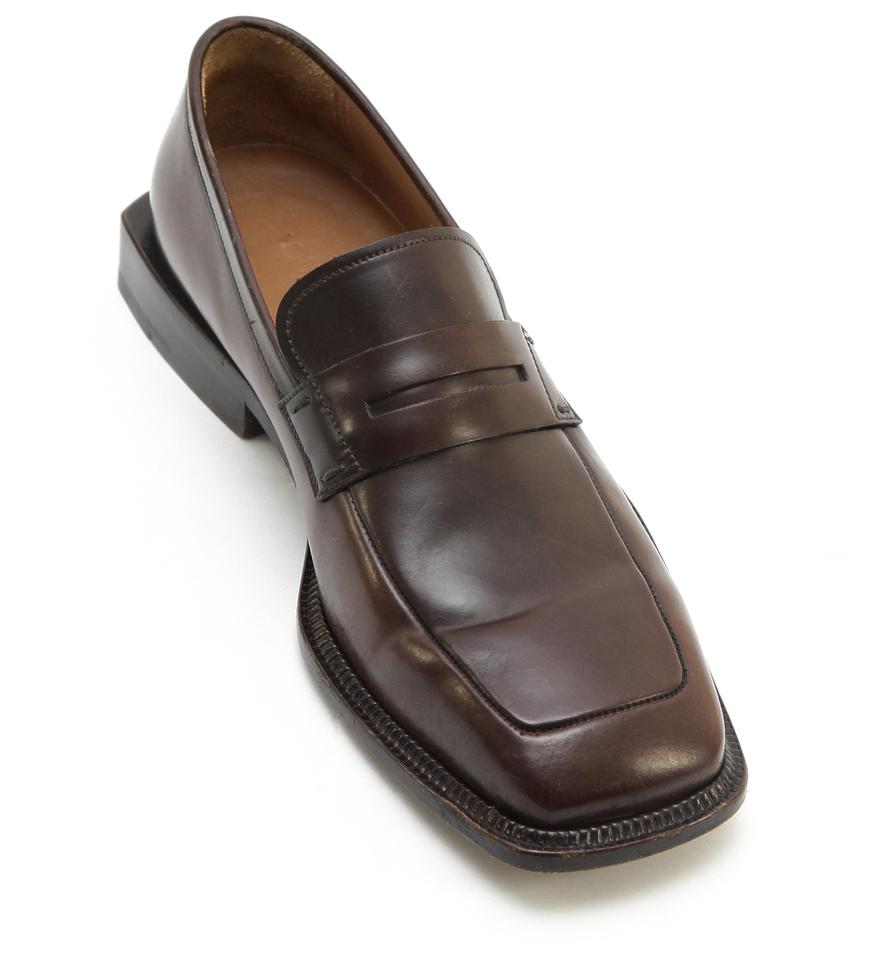 Louis Vuitton Men's Brown Leather Penny Loafer Square Toe ...