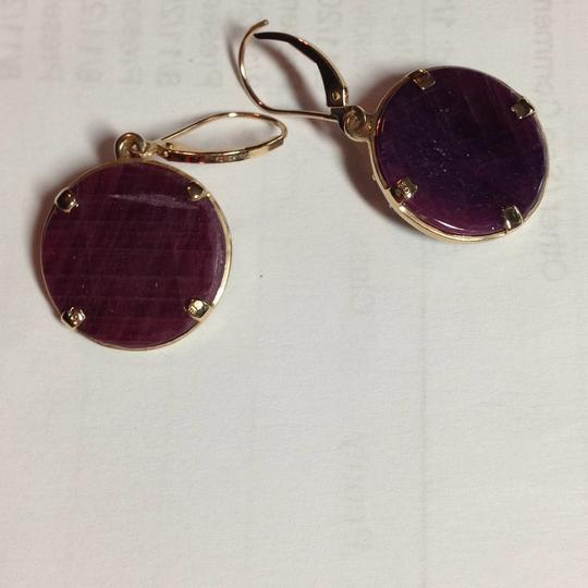 Natural ruby earrings Gold and ruby