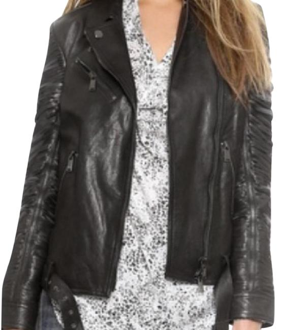 Preload https://item4.tradesy.com/images/haute-hippie-black-ripped-sleeve-moto-leather-jacket-size-8-m-20619493-0-1.jpg?width=400&height=650