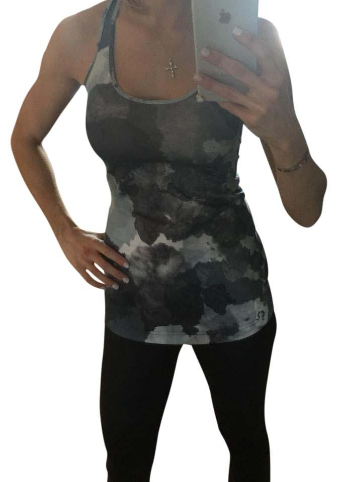789dcd40a38f0 Lululemon Black And Grey Floral Tank Activewear Top Size 2 (XS ...