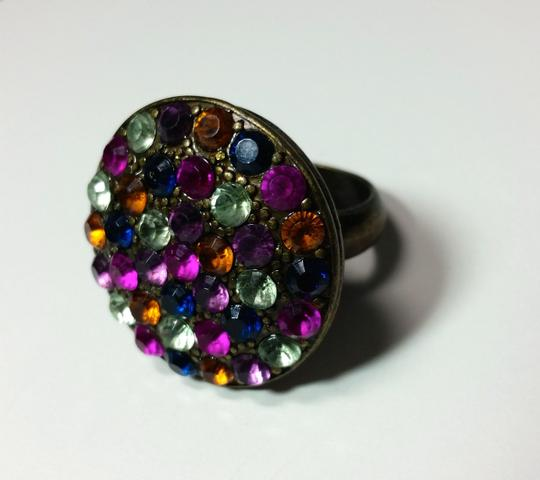 Other New Chgunky Statement Ring Size 7 Colorful Crystals J3111