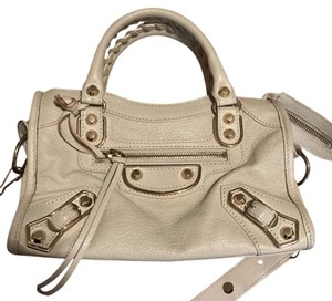 Balenciaga Leather Beige Lambskin Cross Body Bag