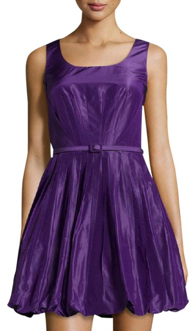 Preload https://item2.tradesy.com/images/oscar-de-la-renta-purple-n-w-t-free-shipping-pleated-fit-and-flare-bubble-short-cocktail-dress-size--20619646-0-3.jpg?width=400&height=650