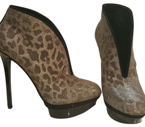 Brian Atwood Black, gold, silver. Boots