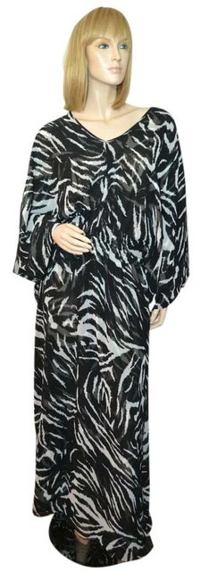 Preload https://item3.tradesy.com/images/torn-by-ronny-kobo-black-caftan-long-casual-maxi-dress-size-6-s-20619697-0-1.jpg?width=400&height=650