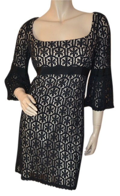 Preload https://item1.tradesy.com/images/milly-black-lace-short-cocktail-dress-size-8-m-20619720-0-1.jpg?width=400&height=650