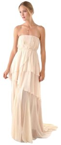 Band of Outsiders Runway Strapless Silk Chiffon Gown Dress
