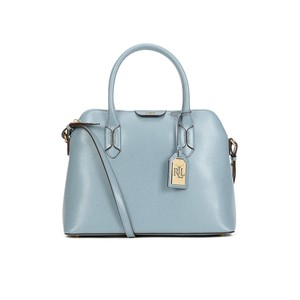 Lauren Ralph Lauren Tate Dome Leather Satchel in CAMEO BLUE