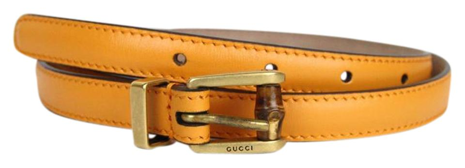 87d3099d940 Gucci New Authentic Gucci Women Belt w Bamboo Buckle Size 85 34 339065 7804  ...