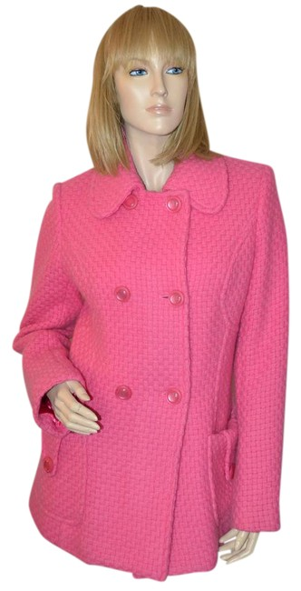 Preload https://img-static.tradesy.com/item/20619841/milly-pink-wool-mohair-pea-coat-size-8-m-0-2-650-650.jpg