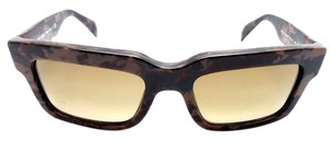 Prada PRADA 01Q ROI-1X1 Sunglasses Mimetic Matte Brown / Brown Gradient