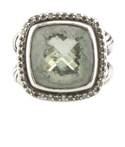 David Yurman David Yurman Diamond & Prasiolite Ring, Size 6 (113481)