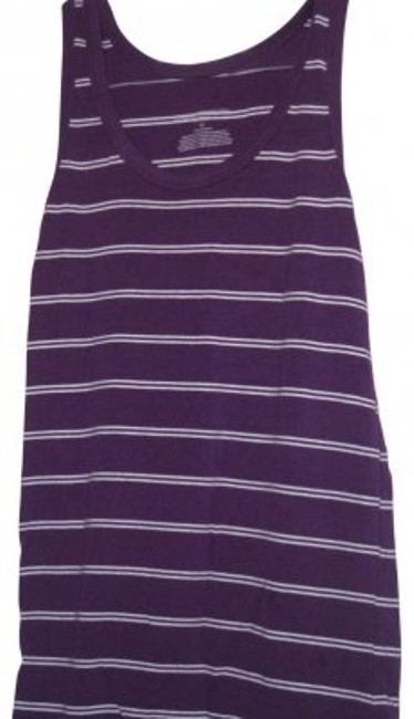 Liz Lange Maternity Cotton Top Purple/White Striped